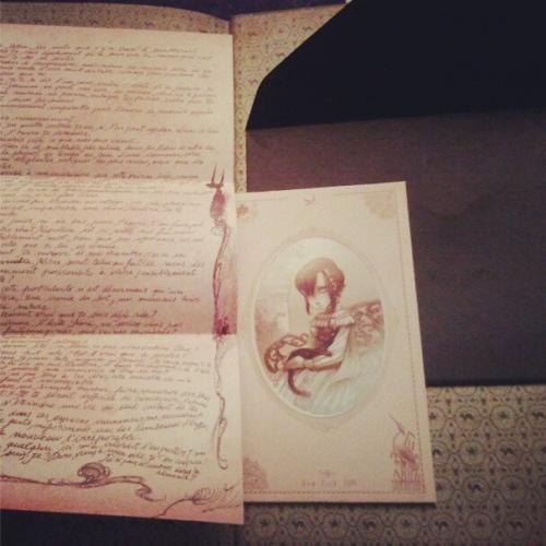 La lettre à Dorothéa et le portrait d'Elisabeth qui était dans l'enveloppe en fin de tome (Instagram/PE_Erika)
